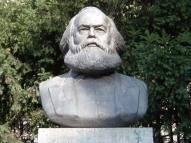 Marx statue bust
