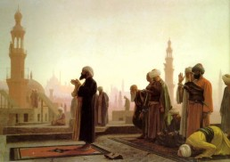 muslims praying painting