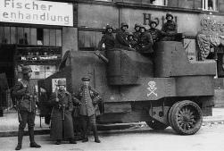 nazi street tank