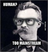 Nietzsche humanity too mainstream meme