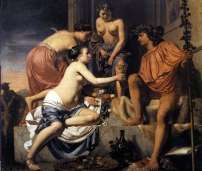 nymphs and baccus dionysus