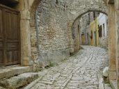 old city street coblestones
