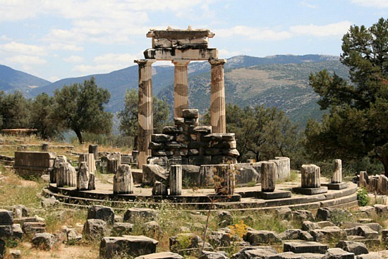 """socrates and the oracle of delphi It is said that one of socrates's friends took council of the oracle of delphi and inquired the name of the wisest person in the world, and the oracle replied """"socrates."""