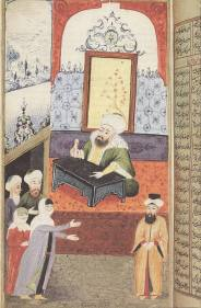 Ottoman Woman in Court lodging a complaint against her husband