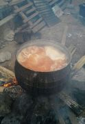 pot of soup cooking