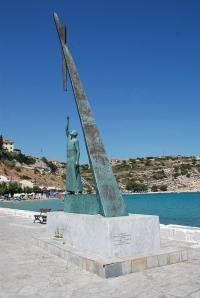 pythagoras statue on Samos
