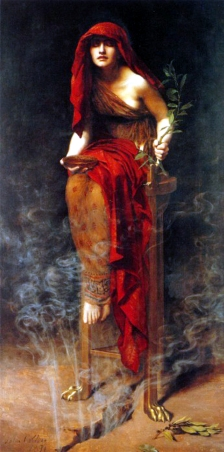 Pythia priestess of Delphi