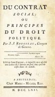 Rousseau Social Contract frontspage