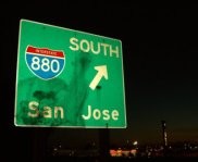 san jose freeway sign