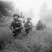 Scottish Bagpipes in Battle