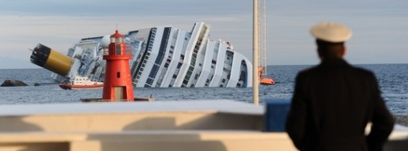 sinking ship and captain