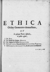 Spinoza Ethica