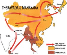 Spread of Theravada and Mahayana Buddhism