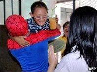 Thai boy rescued by Spiderman