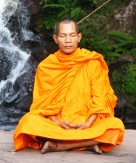 Thai Monk Meditating