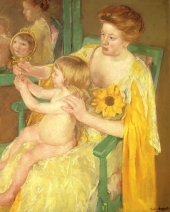 The_Mirror 1905 Mother and Child by Mary Cassatt