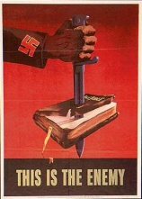 this is the enemy bible stabbing nazis