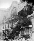 Train wreck Montparnasse 1895