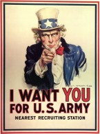 Uncle Sam I Want You Propaganda Poster