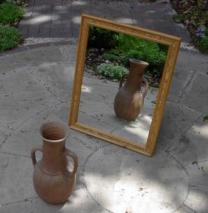 Vase Gazes into Mirror