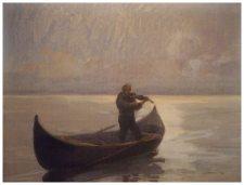 Violinist in a Boat - Arthur Verona