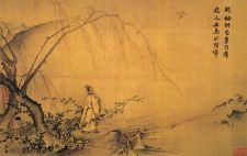 walking in nature chinese painting