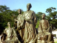 wang yangming statue gold