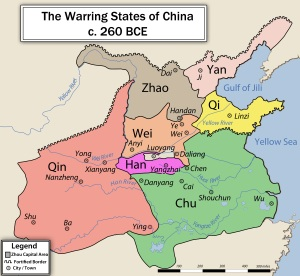 Warring States Period China Map
