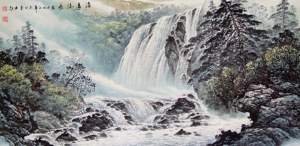 Waterfall painting china