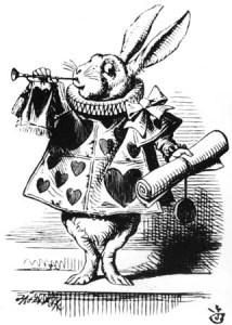 white rabbit trumpet