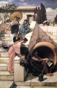 Women look on Diogenes
