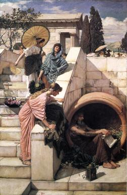 Women look on Diogenes