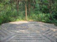 yin yang stone mosaic