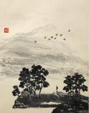 Zhuangzi contemplates flock of birds