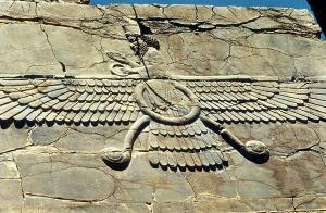 zoroastrian winged symbol