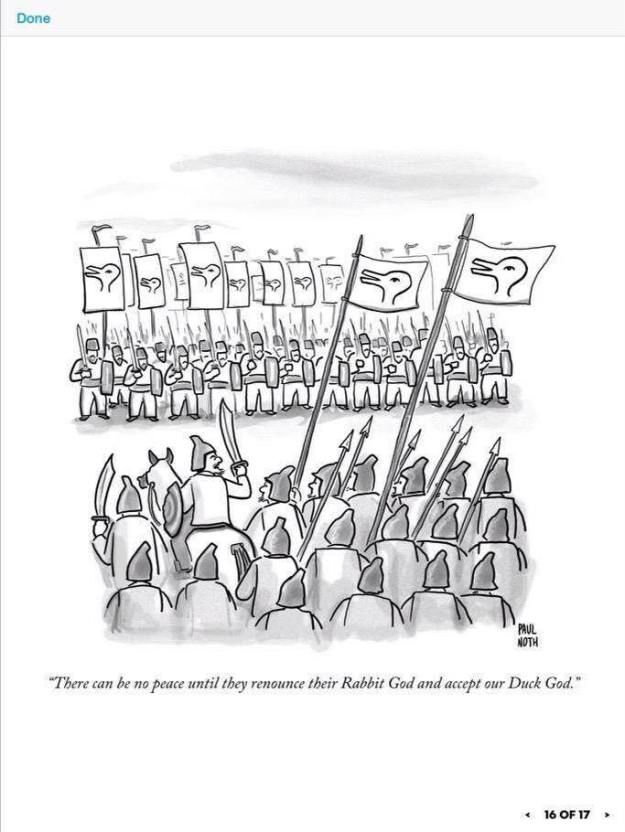 Duck Rabbit War (by Paul Noth)
