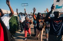 protest ferguson hands up don't shoot