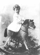 Ludwig Wittgenstein on_rocking_horse