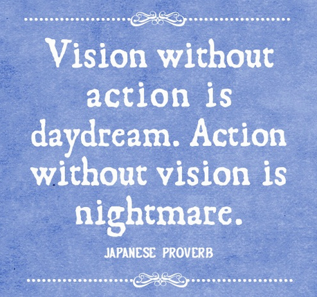 Japanese Proverb Vision without action