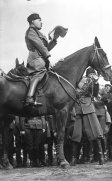 Mussolini on horseback