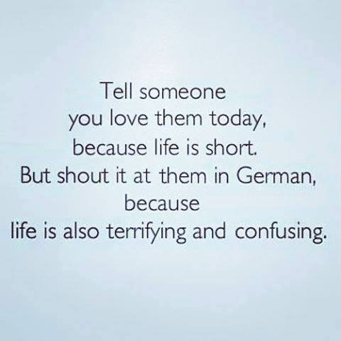 tell someone you love them in German