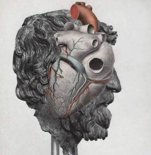 The Philosopher's Head by David Delruelle Collage