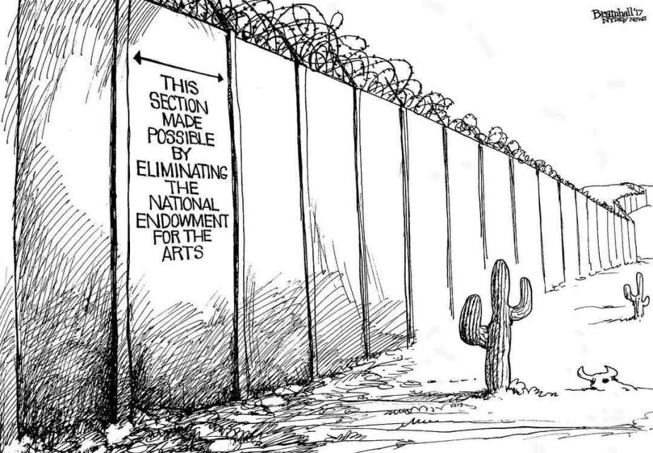 border wall arts funding