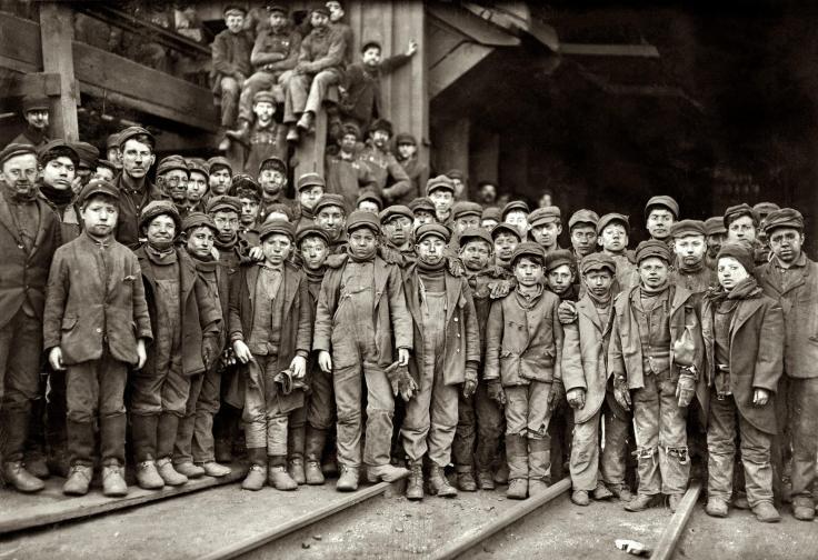 coal minors 1910