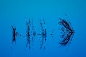 blue lake reflection