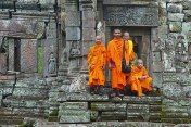 Buddhist monks steps