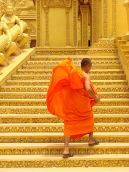 cambodian buddhist monk stairs