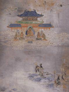 dragon princess brings pearl to buddha