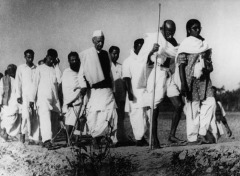 gandhi and followers