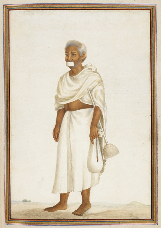 Jain monk broom